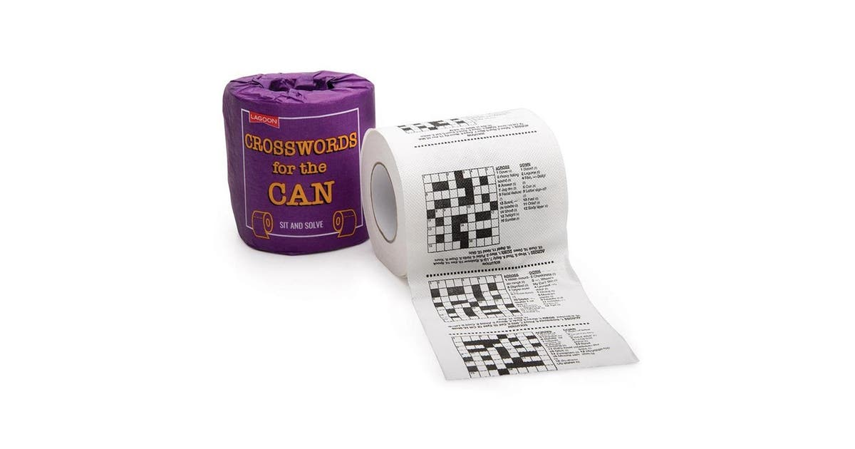 Crosswords For The Can Puzzles Novelty Toilet Paper Kogan Com