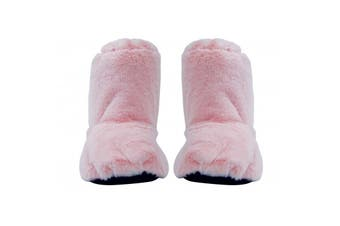 Heat Feet: Microwavable Slippers - Pink