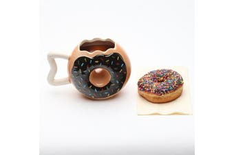 Doughnut Donut Shaped Coffee Mug | Donut donnut tea cup round homer simpson