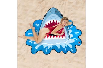 HUGE 152cm Shark Attack Beach Picnic Blanket! | BigMouth Inc.