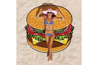 Gigantic Burger Beach Blanket Hamburger Towel by BigMouth