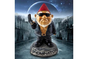 The Gnominator - Garden Gnome Backyard Ornament