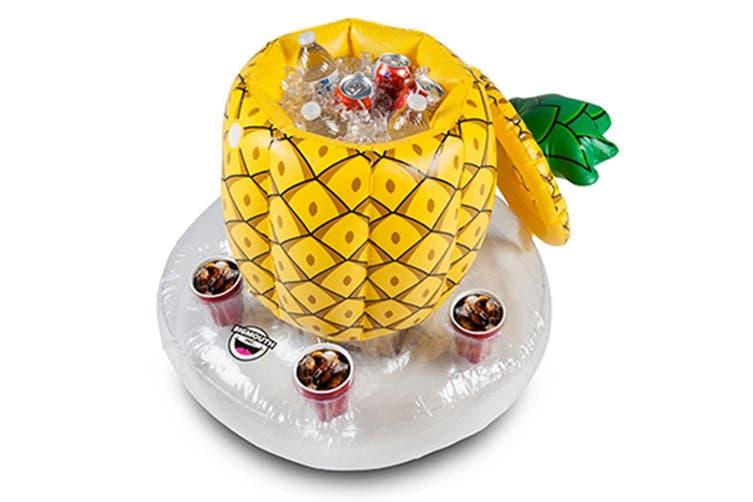 Pineapple Inflatable Floating Bar | Swim-Up Drinks Cooler & Holder!