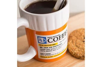 Prescription Coffee Mug | caffeine medicine pills container tea cup
