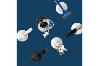 Jot Adhesive Suction Hooks Set of 4 - Black