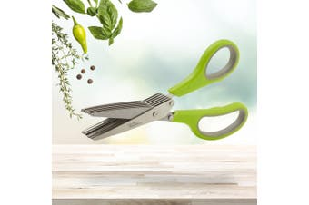 7 Blade Herb Scissors | Stainless Steel Kitchen Shredding Knife