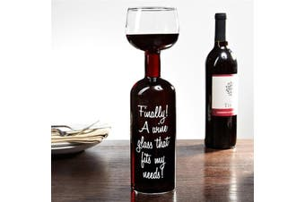 The Wine Bottle Glass - Holds Massive 750ml