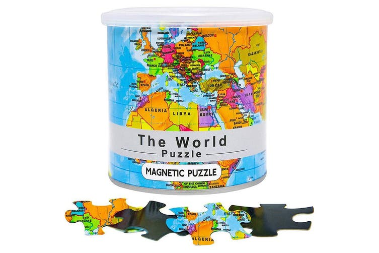 Magnetic World Map Puzzle - 100 Pieces   Perfect for the Kitchen