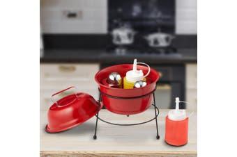 Mini BBQ Condiment & Salt `n` Pepper Caddy   Looks Like A Mini BBQ!