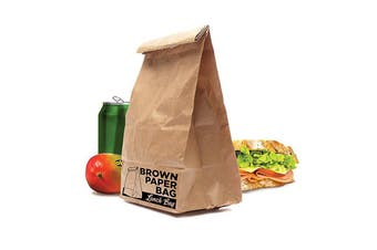 Reusable Insulated Brown Paper Bag | Retro Lunch Sandwich Box Cooler Keep Warm