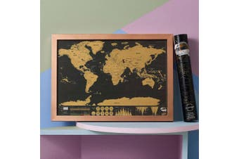 My Travel Scratch Map - Deluxe Travel Edition (Small)