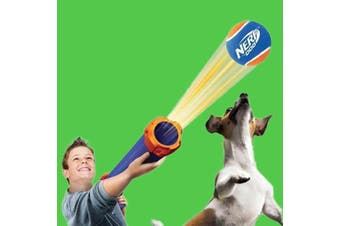 Nerf Dog Medium Tennis Ball Blaster Gun - Launches 15M!