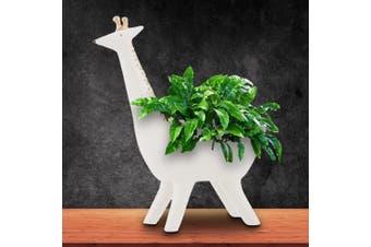 Gina Giraffe White & Gold Ceramic Planter Pot