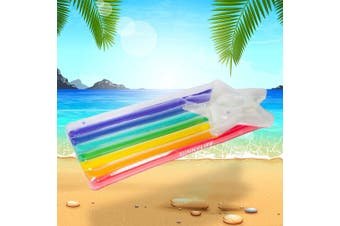 Luxe Rainbow Shooting Star Inflatable Pool Float | Sunnylife