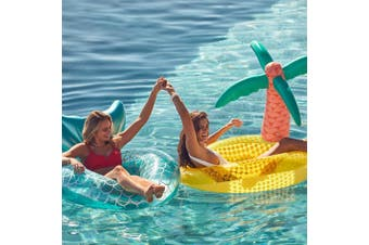Large Luxe Inflatable Tropical Island Pool Ring Float | Sunnylife