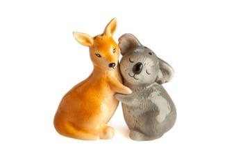 Aussie Outback Mates Kangaroo & Koala Salt & Pepper Shaker Set