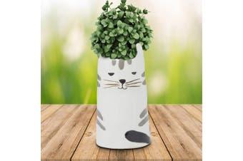 Minky Black & White Cat Small Planter Pot 18cm