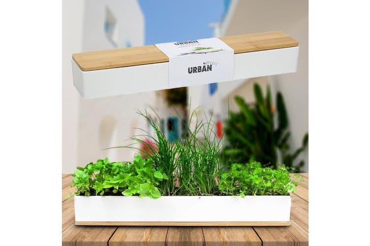 Micro Herbs Porcelain Window Sill Planter Box Grow Kit   Urban Greens