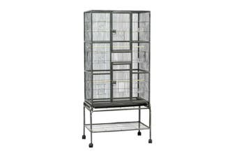 174 cm Bird Cage Parrot Budgie Aviary With Stand