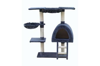 100 cm Grey Cat Scratching Post Tree Scratcher House