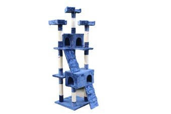 170cm Cat Scratching Post Tree Post House Tower with Ladder Furniture Blue