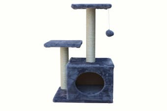 71cm Grey Cat Scratching Tree Scratcher Post Pole Furniture Gym House