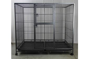 XXL Pet Dog Cat Cage Metal Crate Kennel Portable Puppy Cat Rabbit House