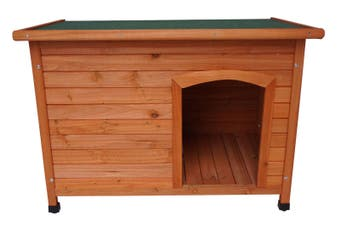 Medium Timber Pet Dog Wooden Cabin Kennel House