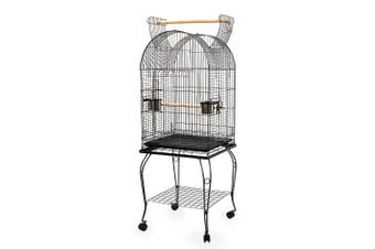Large Bird Cage Budgie Parrot Aviary with Perch & Stand