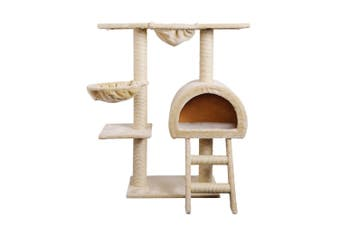 100cm Multi Level Cat Scratching Post - Beige