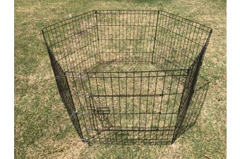 6 Panel Dog Exercise Playpen Puppy Enclosure Rabbit Fence