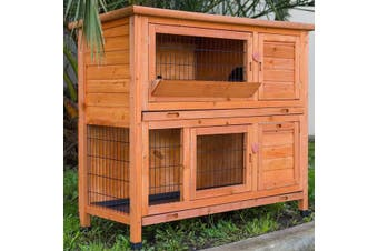 XL Double Storey Rabbit Hutch Guinea Pig Cage , Ferret cage W Pull Out Tray