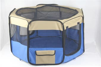 Medium Blue Pet Dog Cat Dogs Puppy Rabbit Tent Soft Playpen