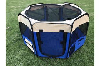 75 cm Foldable Large Blue Dog Puppy Rabbit Soft Playpen Enclosure