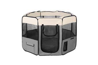 75 cm Foldable Large Grey Dog Puppy Rabbit Soft Playpen Enclosure