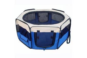 98 cm High Foldable XL Blue Dog Puppy Soft Playpen Rabbit Enclosure