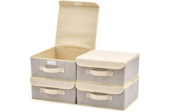4-Pack Foldable Fabric Storage Boxes