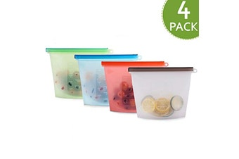 Silicone Food Storage Bags, 1000ml (Set of 4)