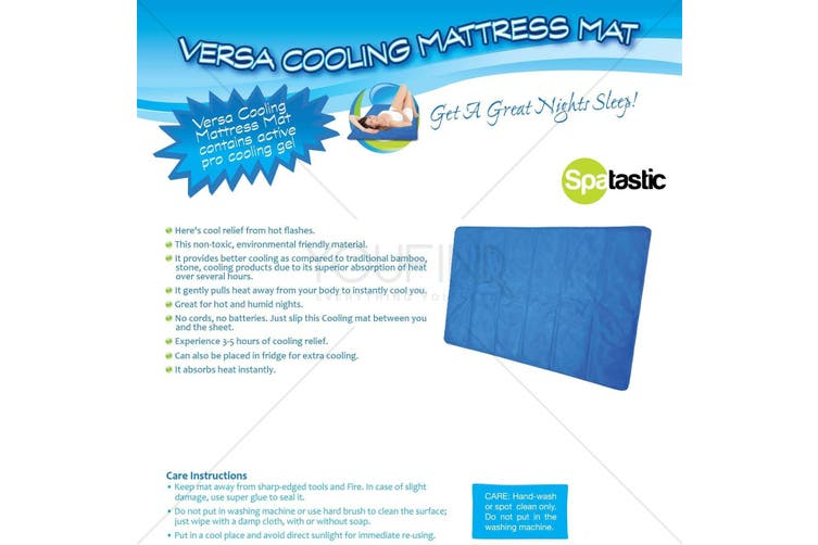 COOLING MATTRESS ACTIVE COOLING GEL COOL PEACEFUL SLEEPING SURFACE MAT