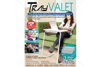 Tray Valet Foldable laptop table with extendable adjustable legs