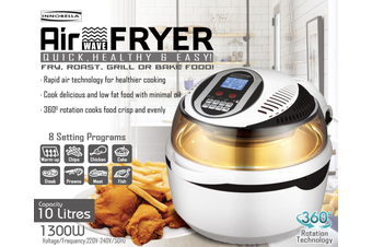 10L Air Fryer Digital 1300W Fry, Roast, Bake or Grill - All in one!