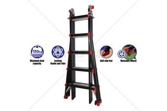 34 in 1 Multipurpose 5.5m High Foldable Ladder - 150kg capacity Extendable