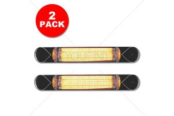 HOTTO INFRARED HEATER - UV FREE Indoor & Outdoor Carbon Fibre Bulb  (2 PACK)