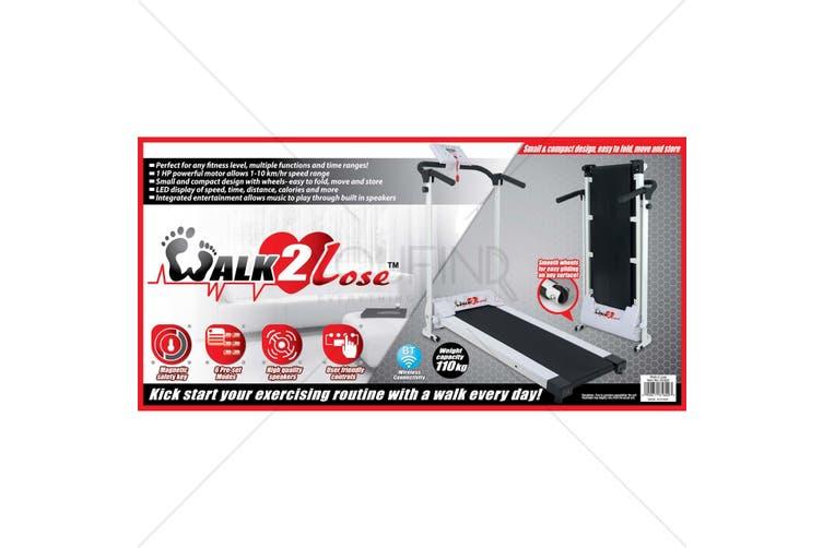Walk2Lose Treadmill 1-10km/h & 110kg capacity 6 pre set modes