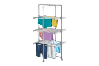 3 Tier Jumbo Heated Airer - Timer Function & Wheels