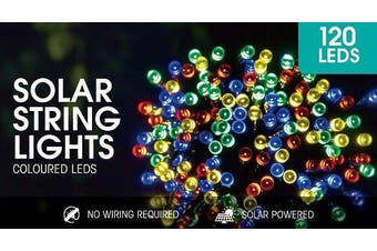 Multi-Coloured Solar String Lights 2M 120LED's Home, Office etc. Decoration