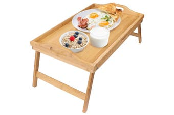 MULTIPURPOSE BAMBOO BED TRAY WITH FOLDING LEGS