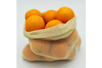 3 Pcs Reusable Mesh Bags for Shopping, Errands Roadtrips and more