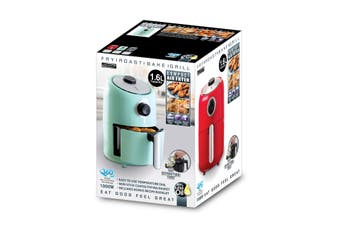 Compact Air Fryer Red 1.6 Litre Retro Style