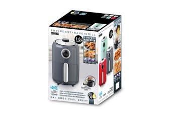 Compact Air Fryer Grey 1.6 Litre Retro Style